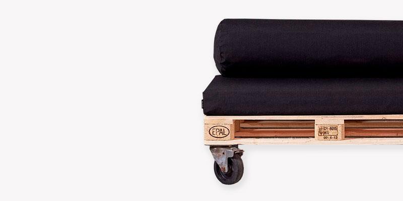 Recycling sofamodul med palle, hynde og hjul
