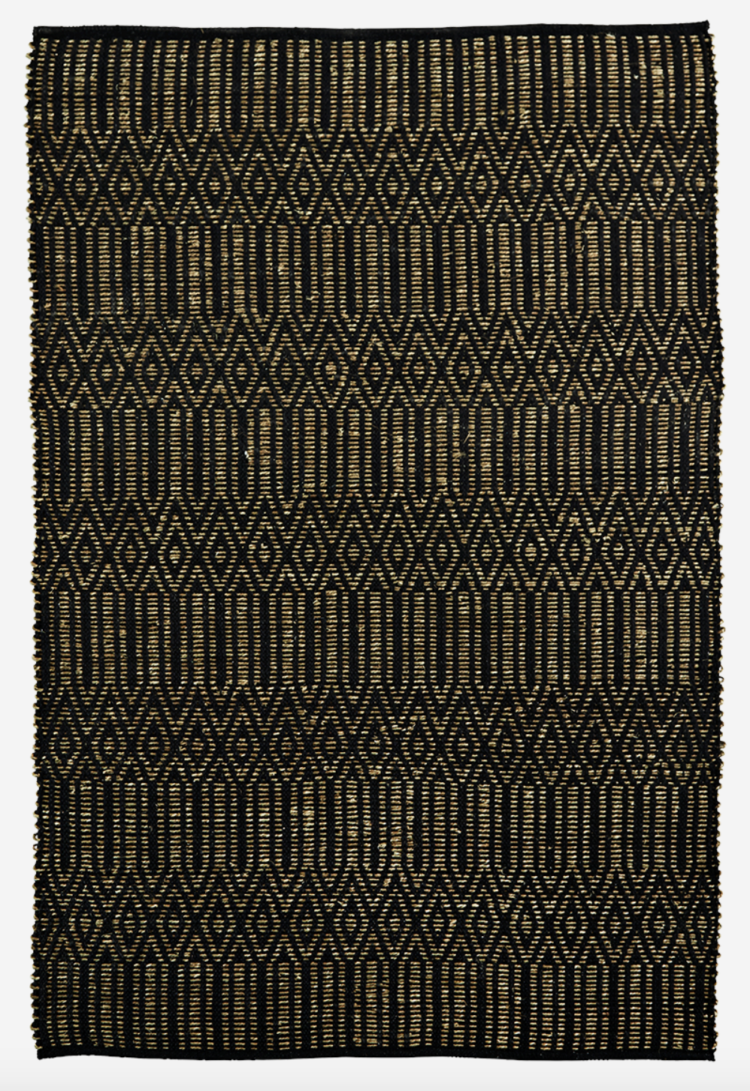Seagrass rug black, natural Madam Stoltz